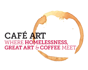 cafe where homeless people and buyers of artwork meet