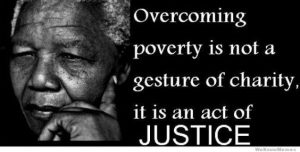 Nelson Mandella quote on overcoming poverty. A caterer can help.