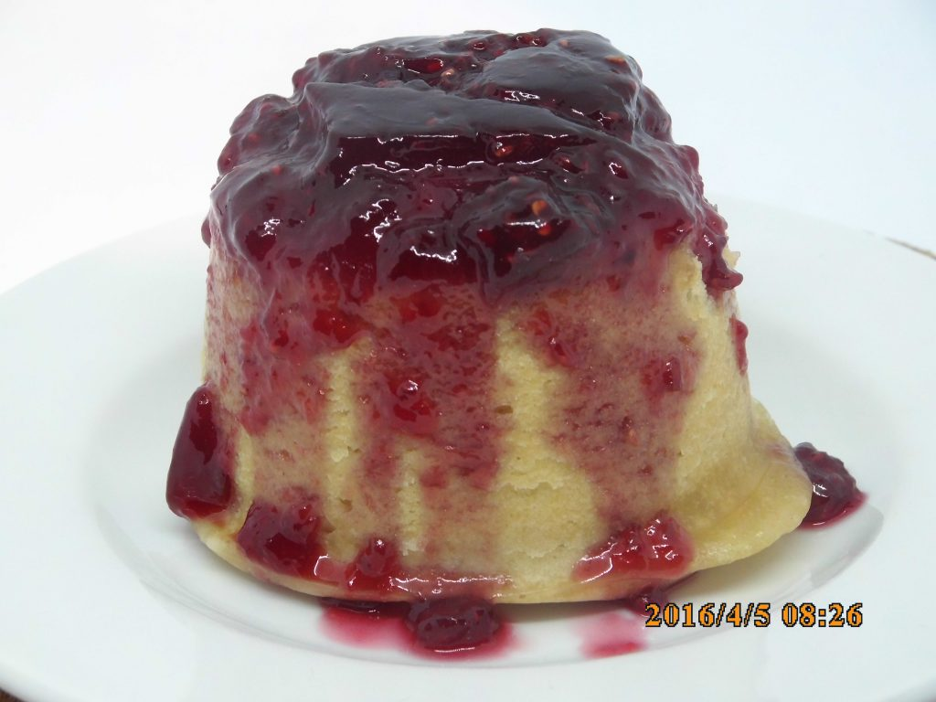 Steamed Raspberry Sponge Pudding - school Pudding Recipes