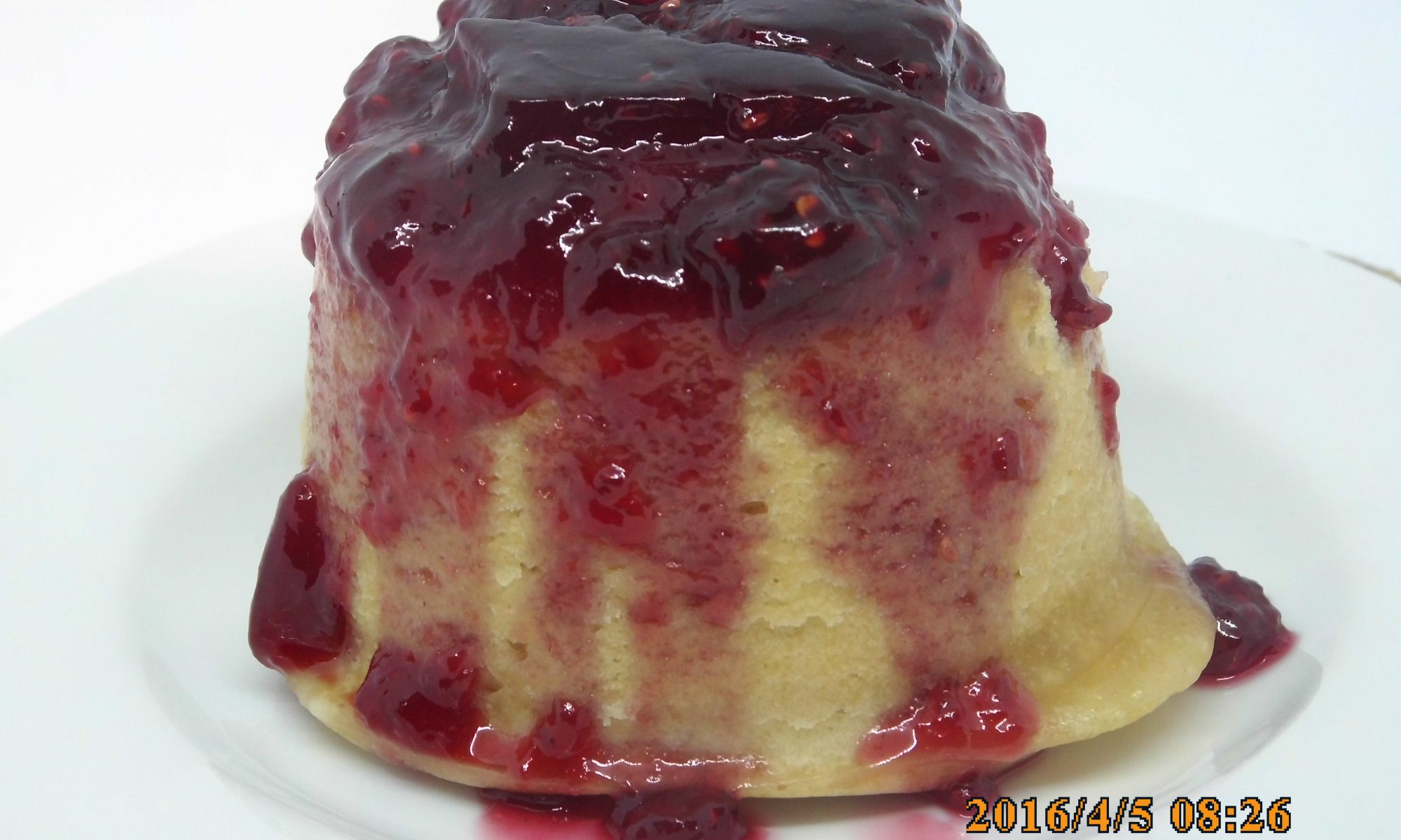 Steamed Raspberry Sponge Pudding