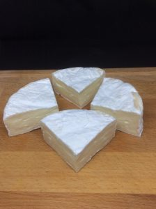 camembert cut into wedges