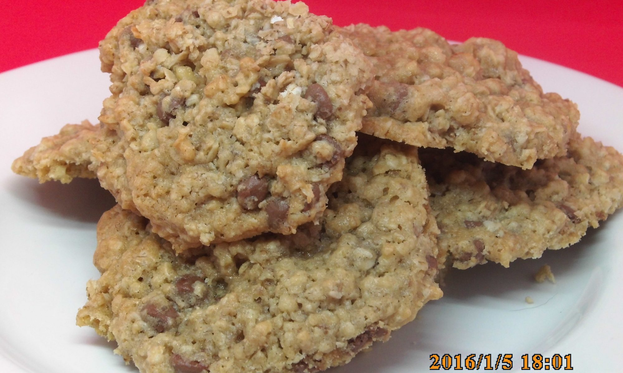 Chewy Oat, Nut & Chocolate Chip Cookies