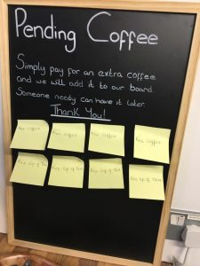 The Yorkshire Wrap Company Pending Coffees Board