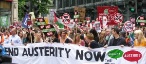 campaigning against austerity