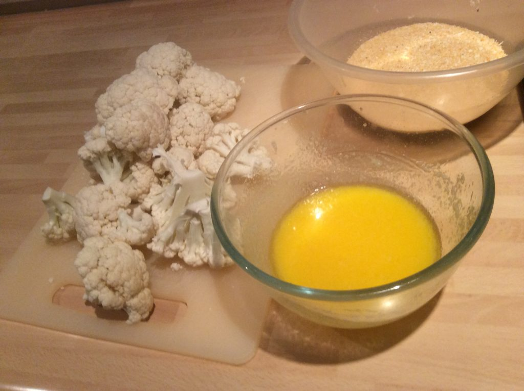 coating for crispy cauliflower bites