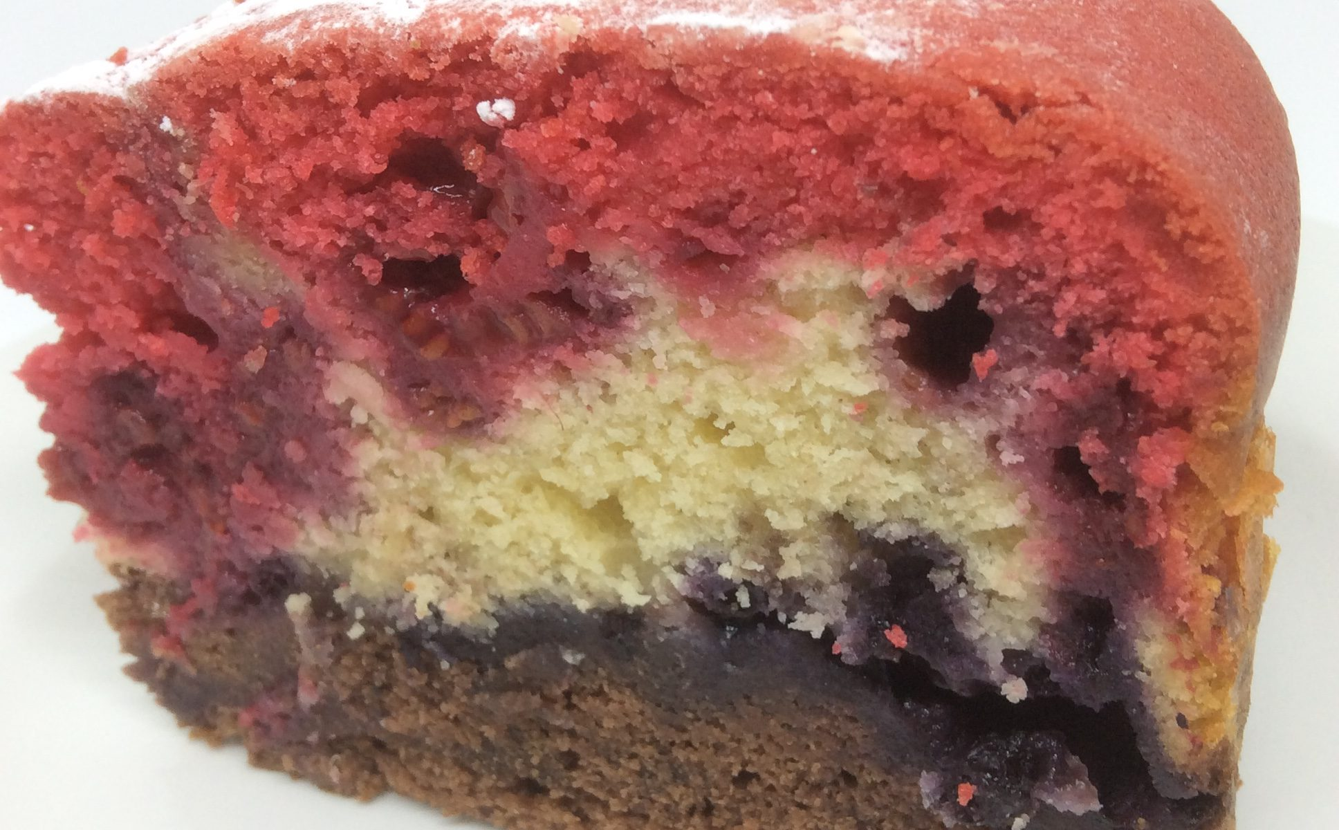 Raspberry & Blueberry Neopolitan Cake