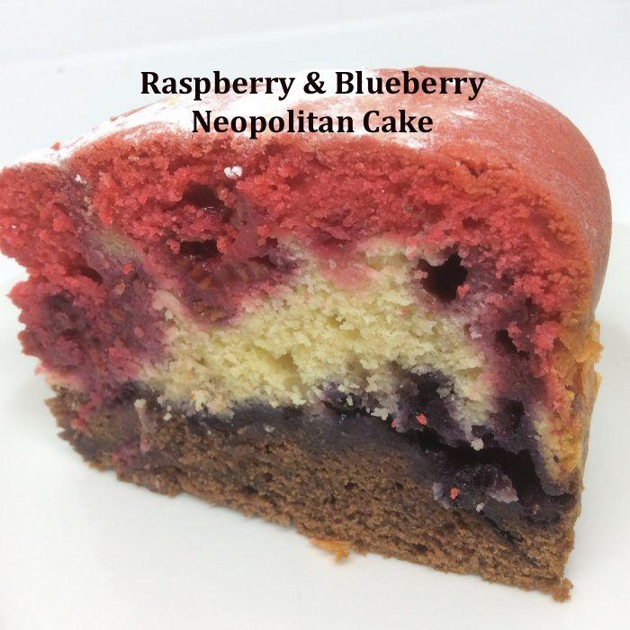 raspberry & blueberry cake