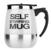 Stainless Steel Self Stirring Mug 450ml - Black / 450ML