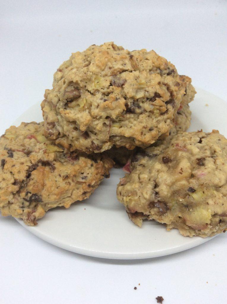 rhubarb oats cookies