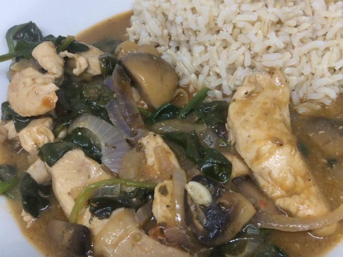 chicken and mushroom pesto