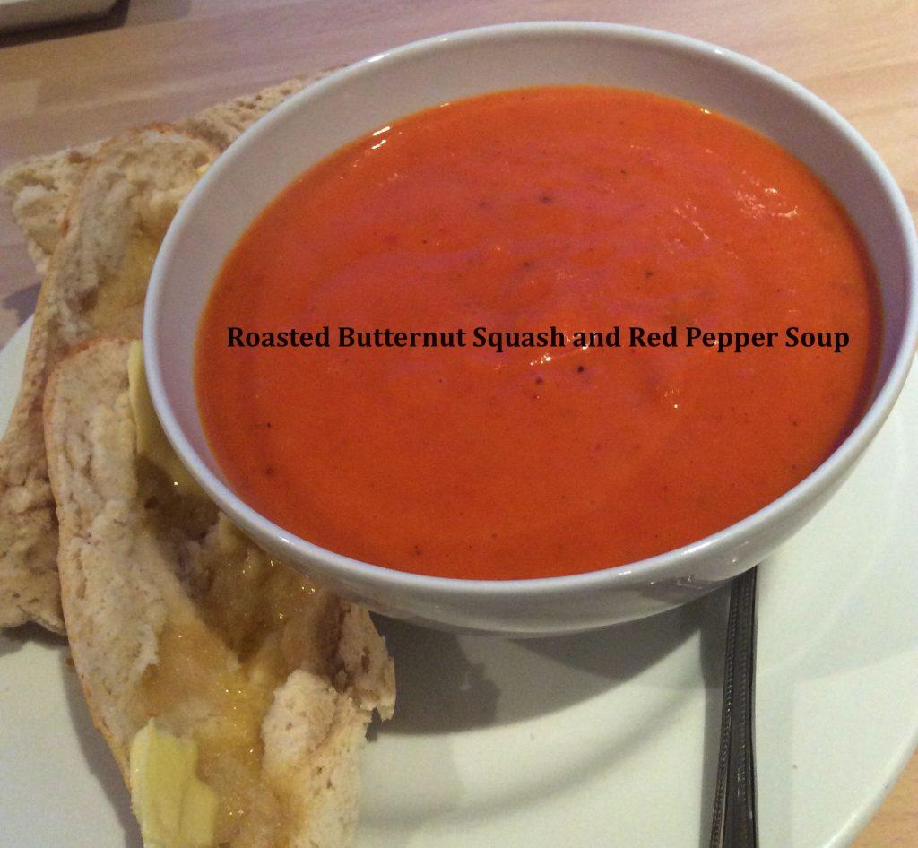 butternut squash red pepper soup