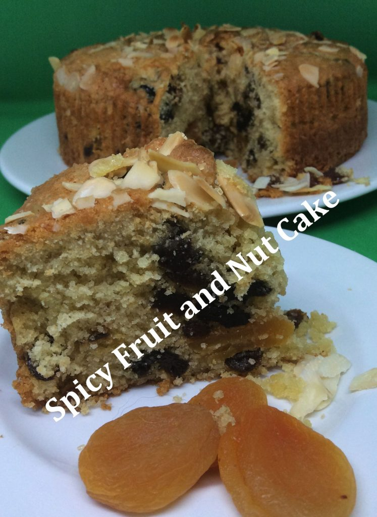 spicy fruit and nut cake