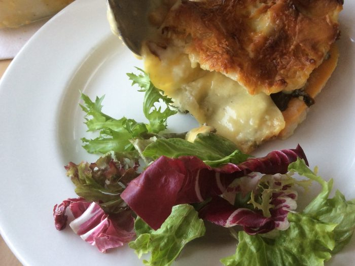 Sweet Potato Spinach and Chick Pea Lasagne
