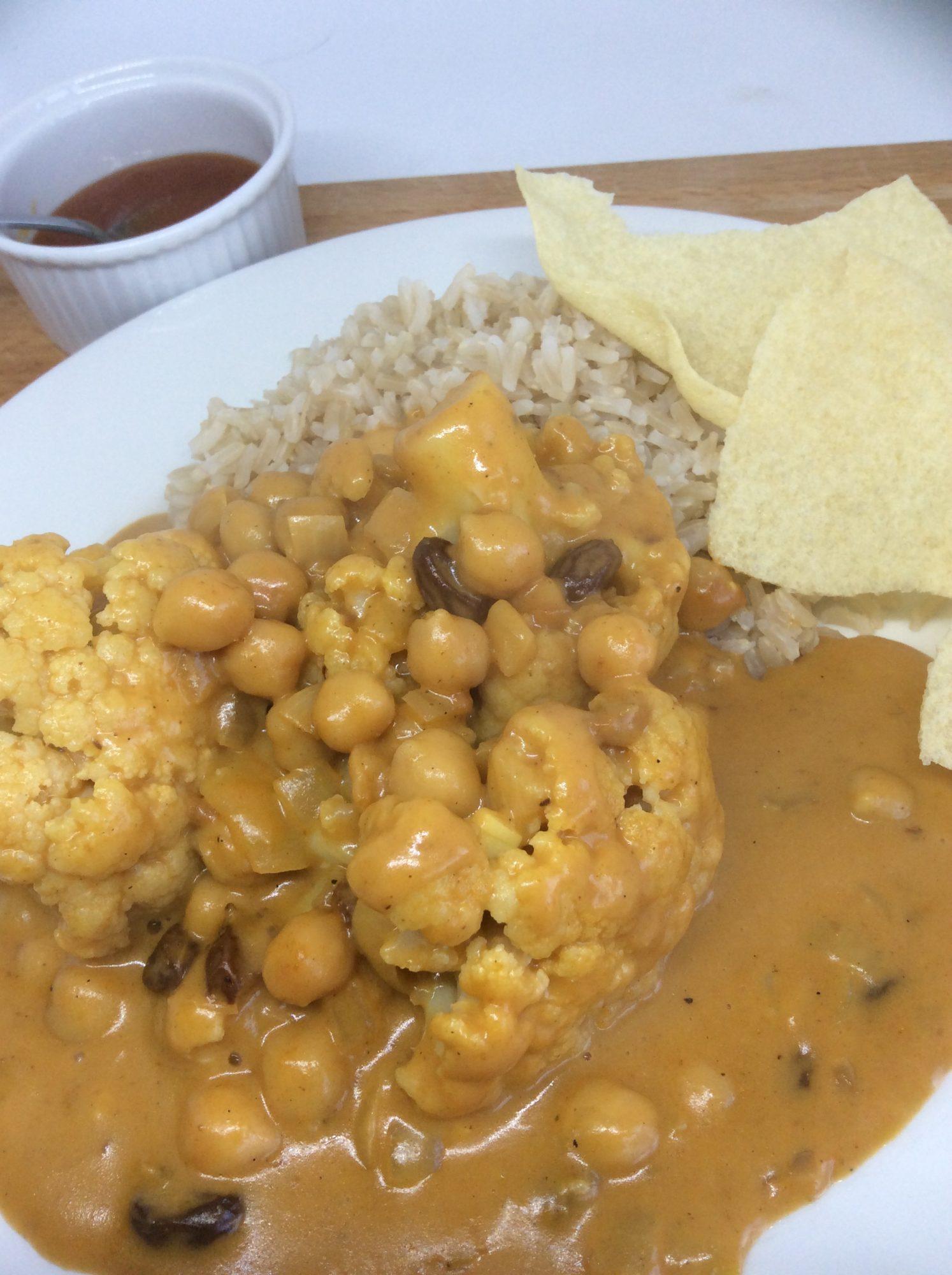 cauliflower & Chick Pea Curry