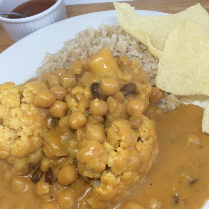 cauliflower & Chick Pea Curry