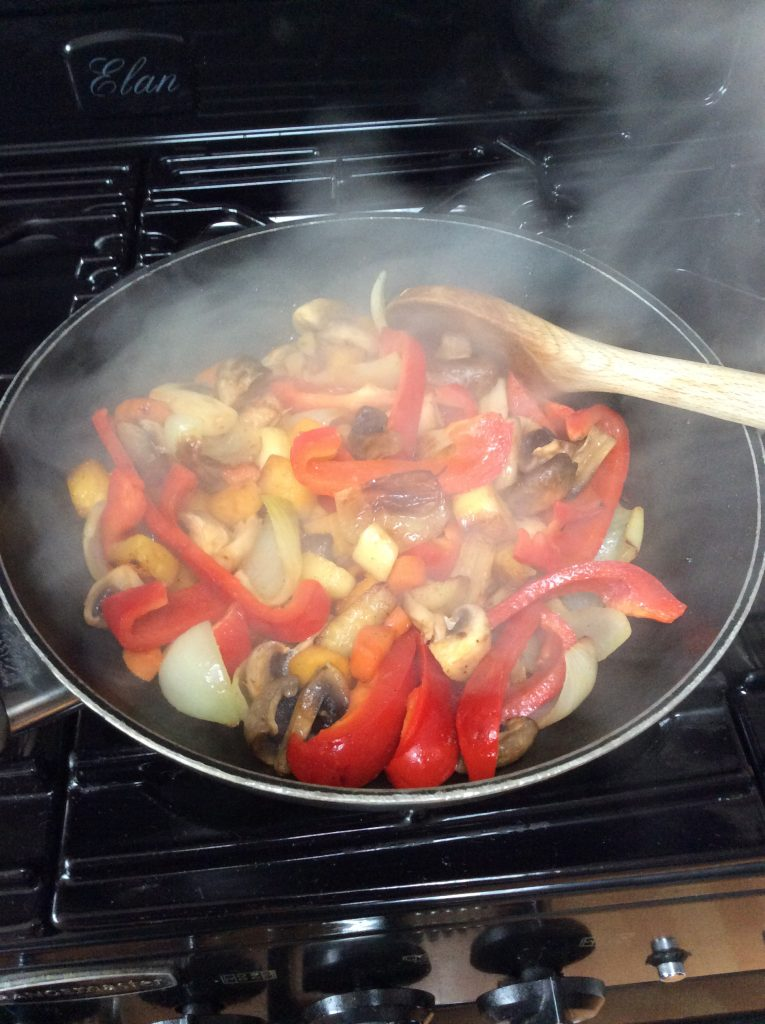 vegetables cooking