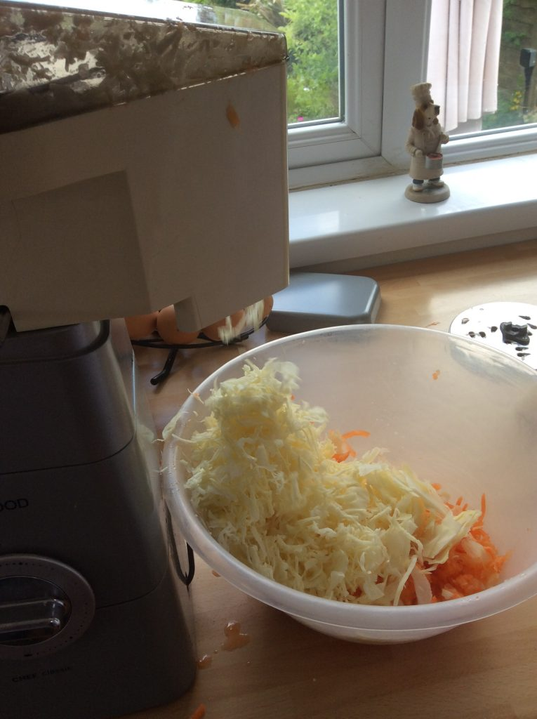 coleslaw prep