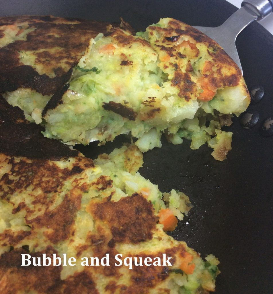 zero waste - use up leftovers with bubble & squeak
