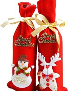 christmas gifts wine bottle covers