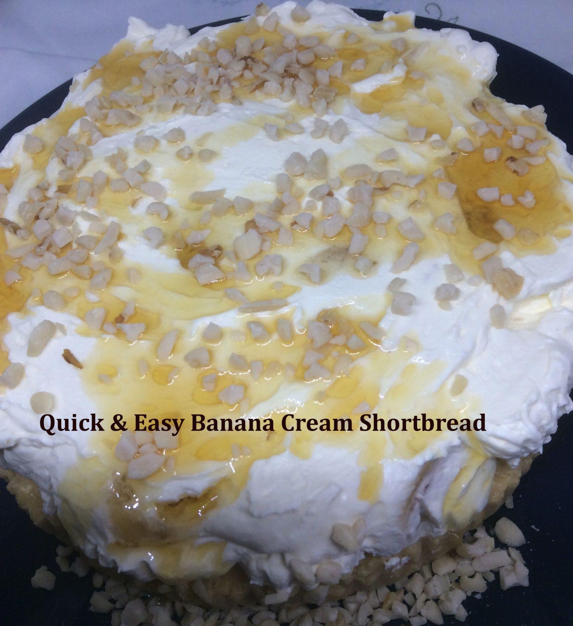 Banana Cream Shortbread