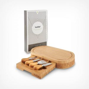 Oval Bamboo Cheese Board Set