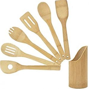 6 Piece Bamboo Kitchen Cookware Tool Set