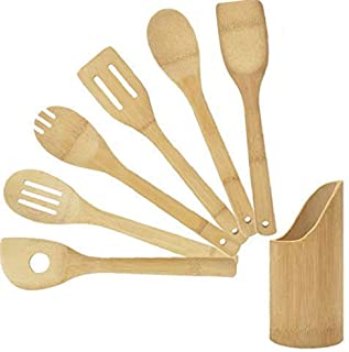 6 Piece Bamboo Kitchen Cookware Tool Set