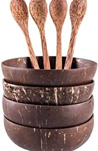 Set-of-4-Coconut-Bowls-and-Coconut-Spoons-Handmade-Natural-Eco-Friendly-Great-for-Serving-Noodle-Pasta-Smoothie